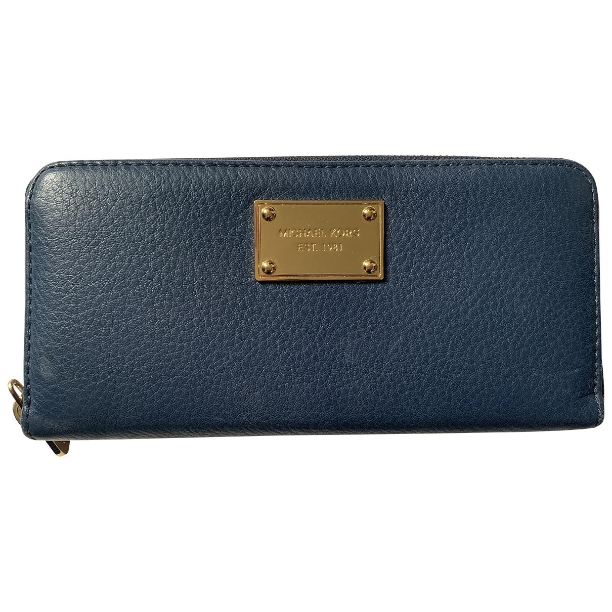 Michael Kors - Portefeuille   pour femme en cuir - bleu