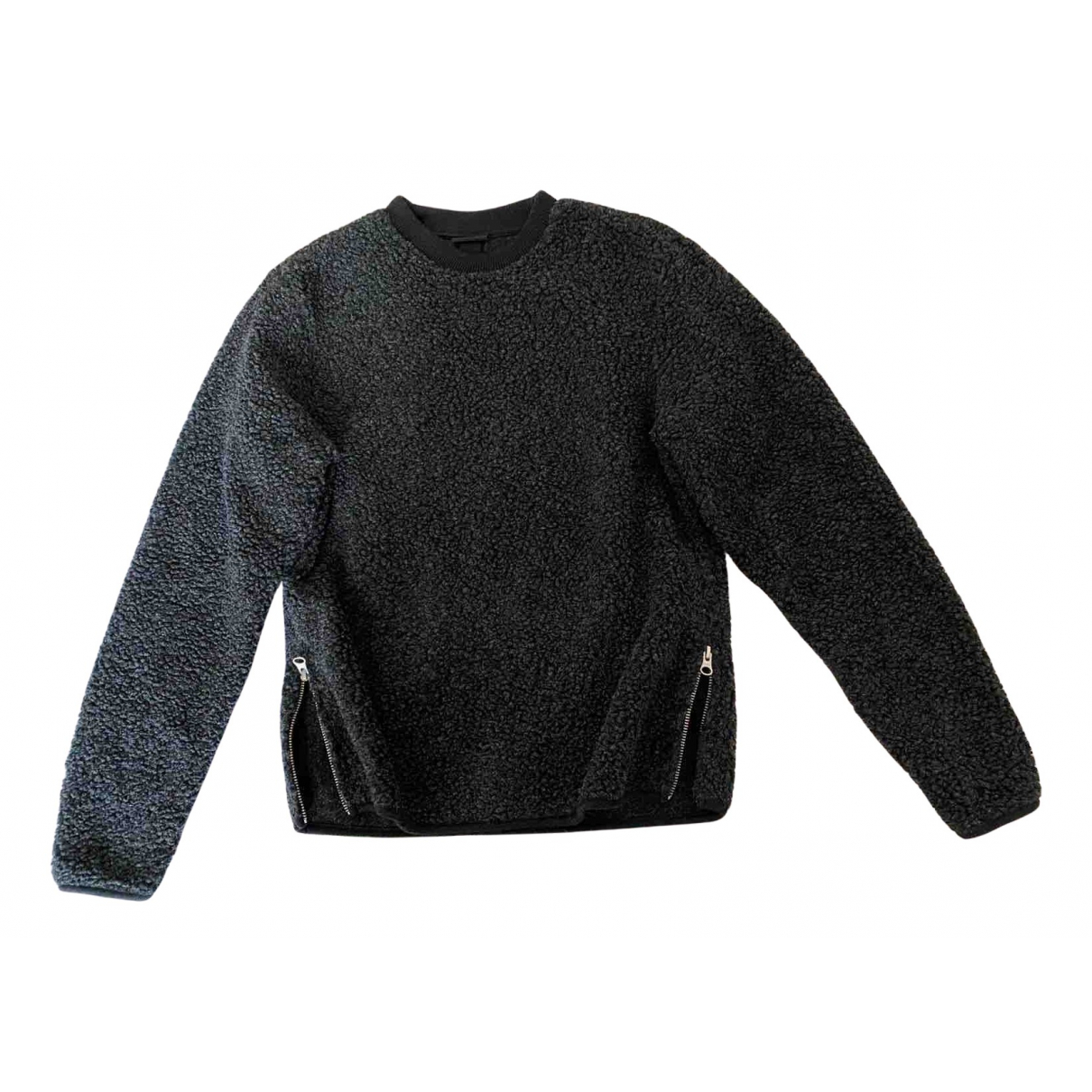 Non Signe / Unsigned \N Pullover.Westen.Sweatshirts  in  Grau Polyester