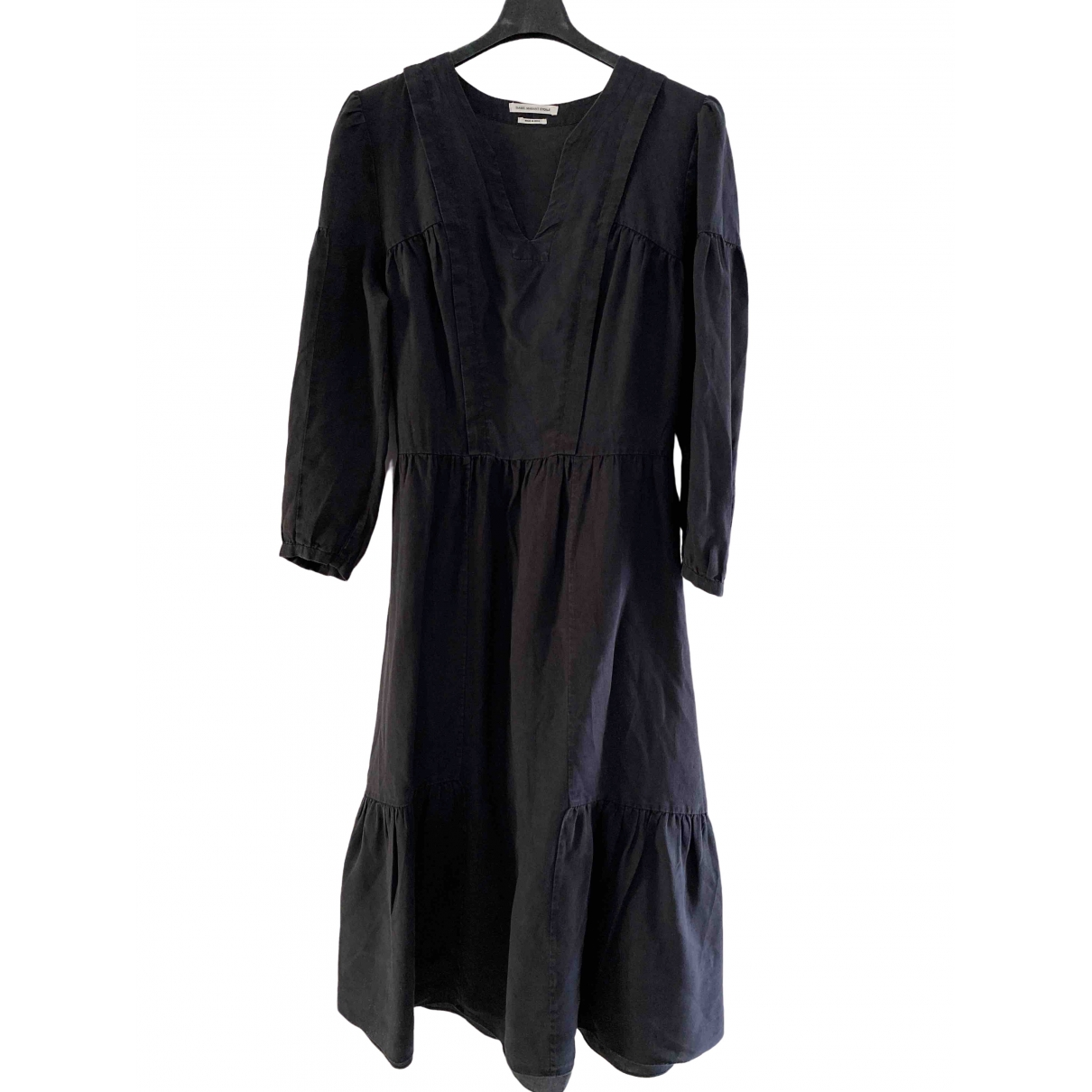 Isabel Marant Etoile \N Black Linen dress for Women 38 FR