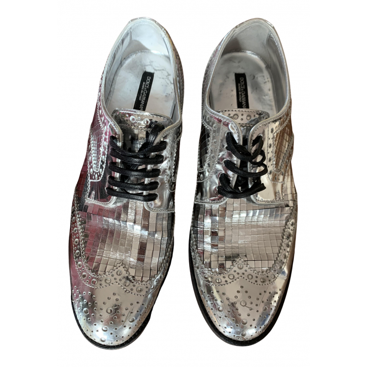 Dolce & Gabbana \N Schnuerschuhe in  Silber Leder