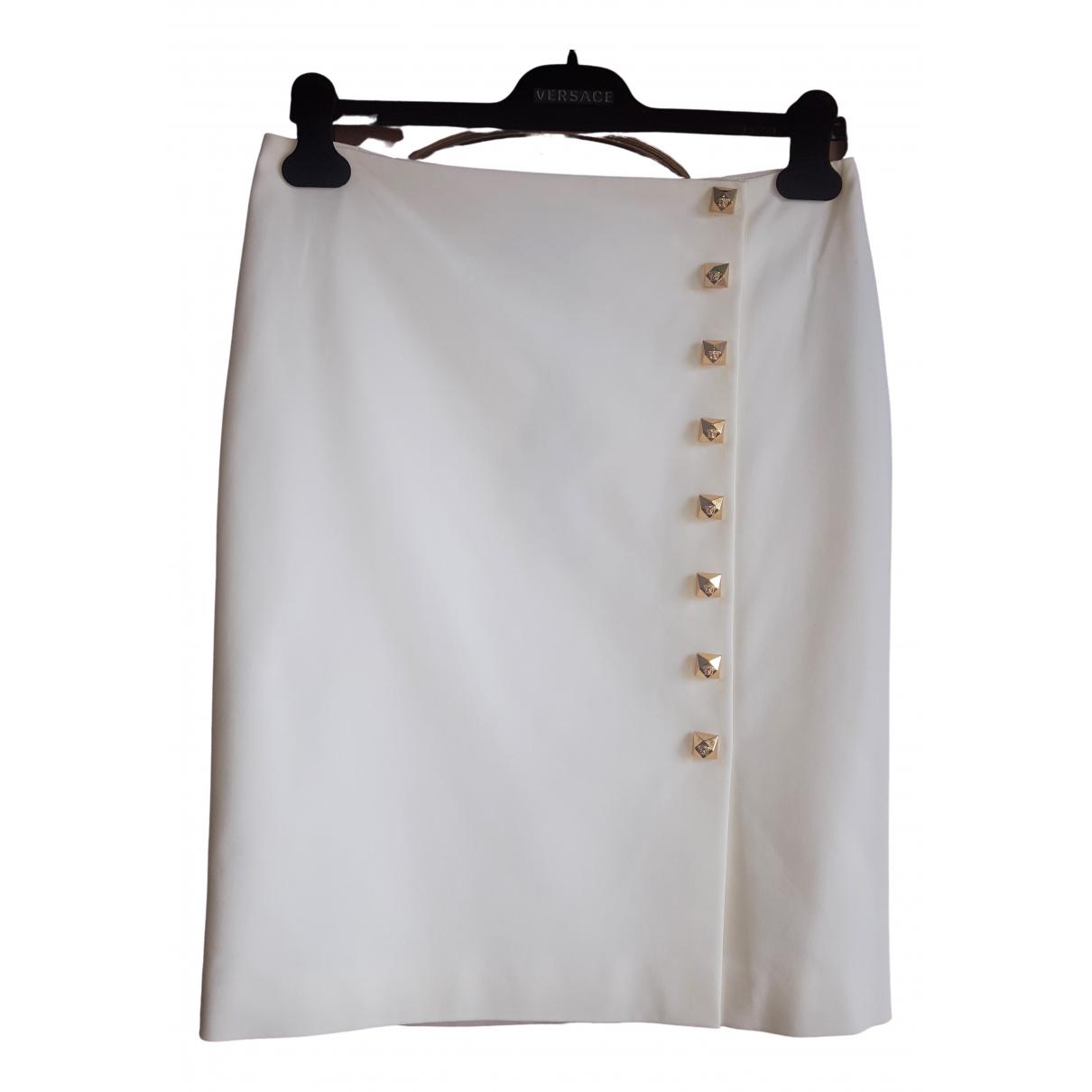 Versace - Jupe   pour femme en coton - blanc