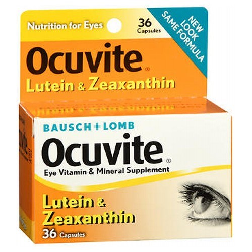 Bausch And Lomb Ocuvite Lutein Eye Vitamin And Mineral Supplement Capsules 36 caps by Bausch And Lomb