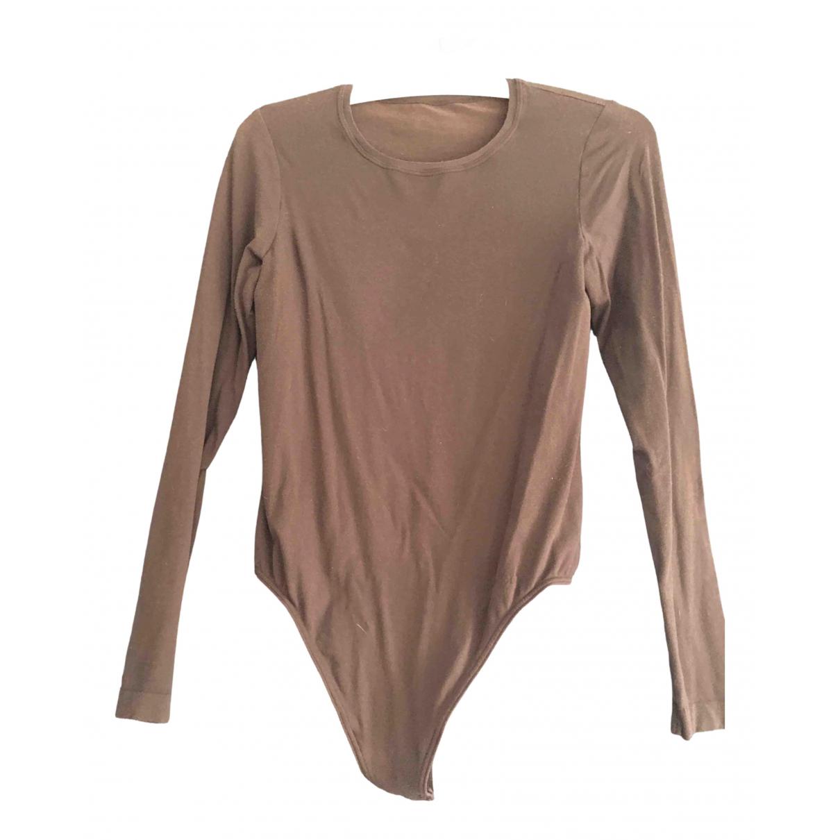 Wolford - Pull   pour femme en coton - marron