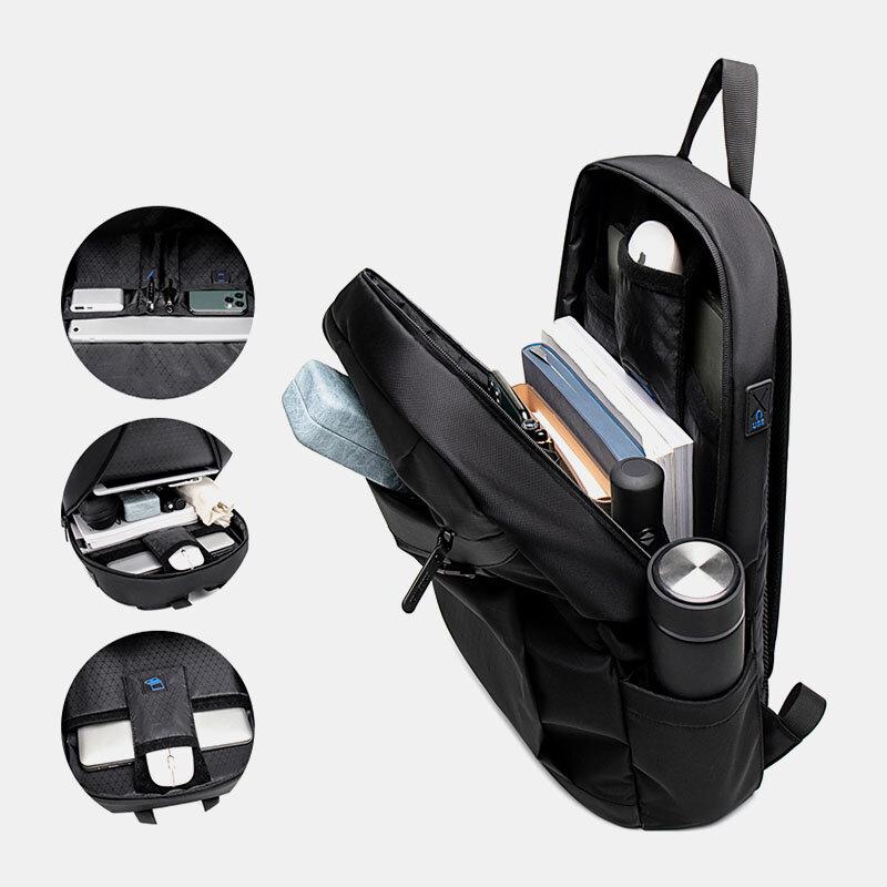 Men 15.6 Inch Laptop Bag Large Capacity Multi-pocket Backpack