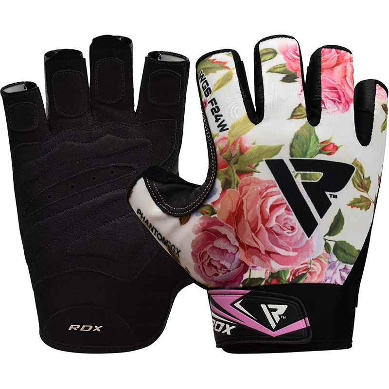 RDX F24 Gym Gloves for Ladies in Lycra Floral Design Small