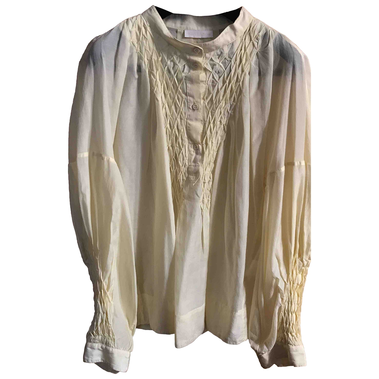Ermanno Scervino \N Yellow Cotton  top for Women 46 IT