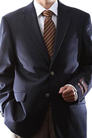 Men's Extra Long Regular Size 1 Wool Fabric Blazer Sport coat Silver