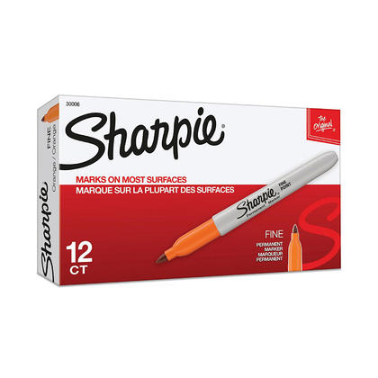 Sharpie@ pointe fine pointeau permanent, 12/boite - Orange