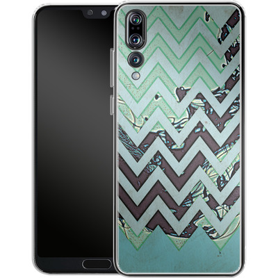 Huawei P20 Pro Silikon Handyhuelle - Electric Ink von caseable Designs