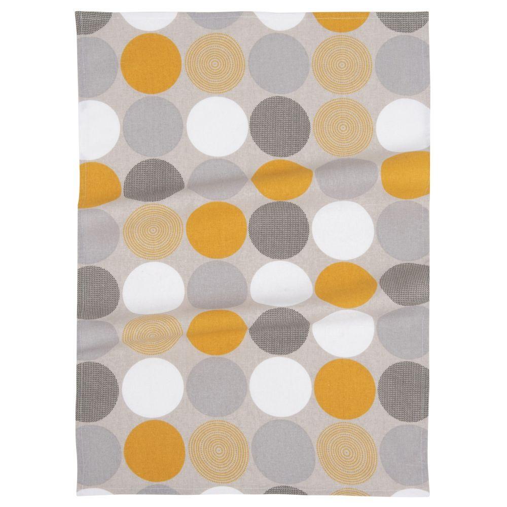 Geschirrtuch aus Baumwolle mit grafischen Motiven 50x70