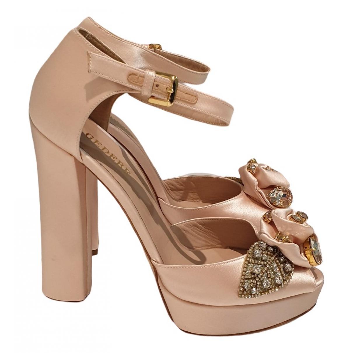 Gedebe - Escarpins   pour femme en toile - rose