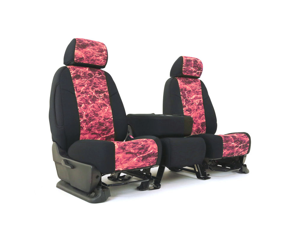 Coverking CSC2MO15FD7914 Skanda Custom Seat Covers 1 Row Neosupreme Mossy Oak Elements Anemone with Black Sides Front Ford F-250   F-350 Super Duty 20