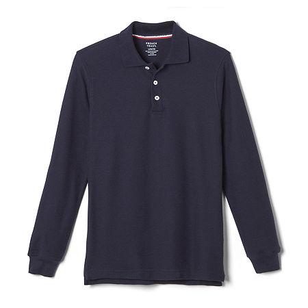 French Toast Little & Big Boys Long Sleeve Polo Shirt, X-small , Blue