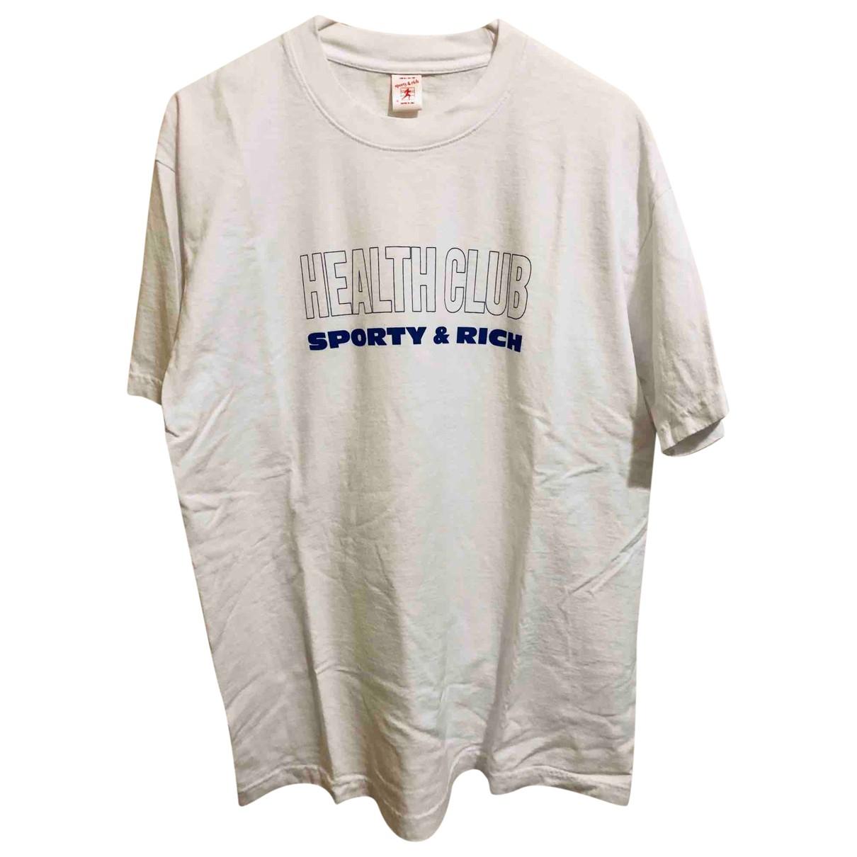 Sporty & Rich - Top   pour femme en coton - blanc