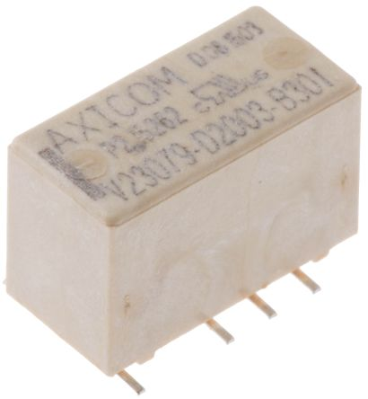TE Connectivity , 12V dc Coil Non-Latching Relay DPDT, 2A Switching Current PCB Mount, 2 Pole