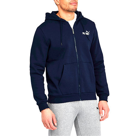 Puma-Big and Tall Mens Long Sleeve Hoodie, 4x-large Tall , Blue