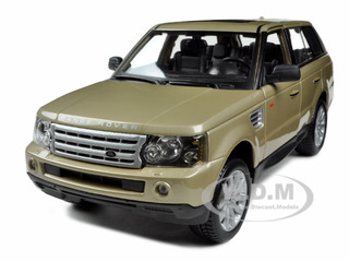 Range Rover Sport Gold 1/18 Diecast Model Car by Bburago