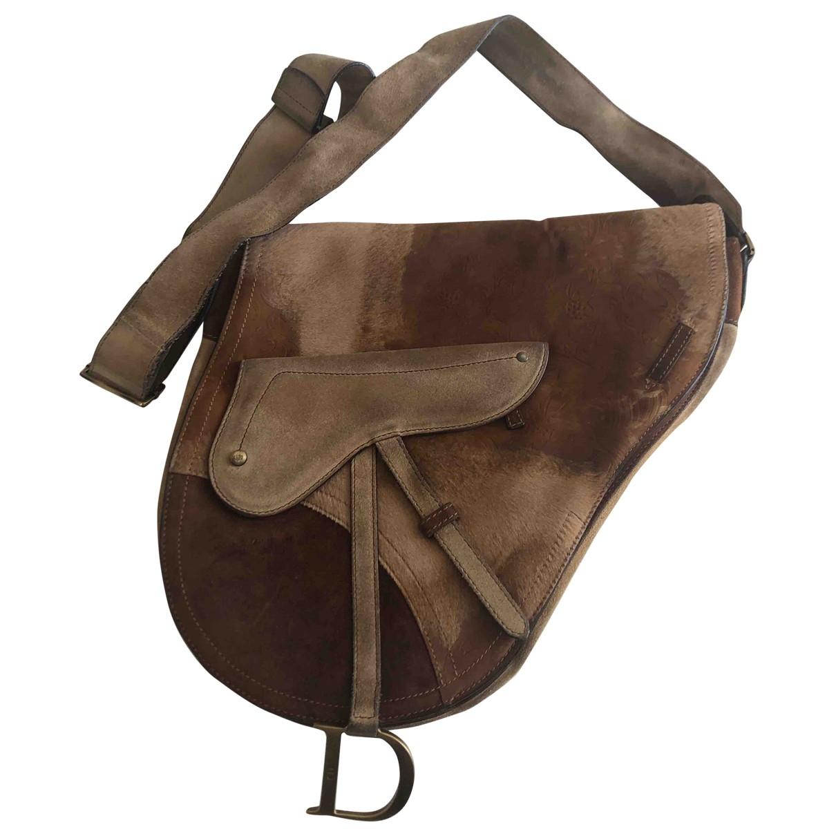 Dior - Sac a main Saddle pour femme en veau facon poulain