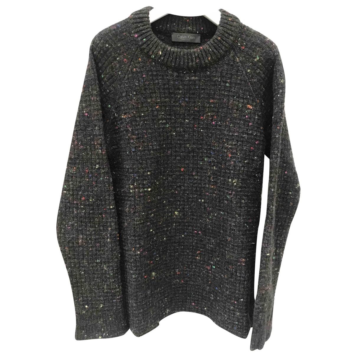 Calvin Klein Collection - Pull   pour femme en laine - marron