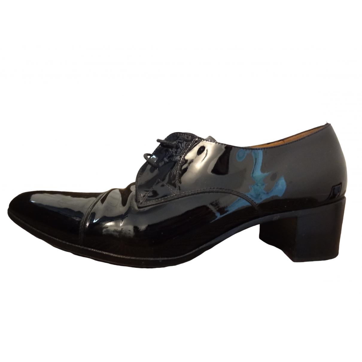 Fratelli Rossetti \N Black Leather Lace ups for Women 38.5 EU