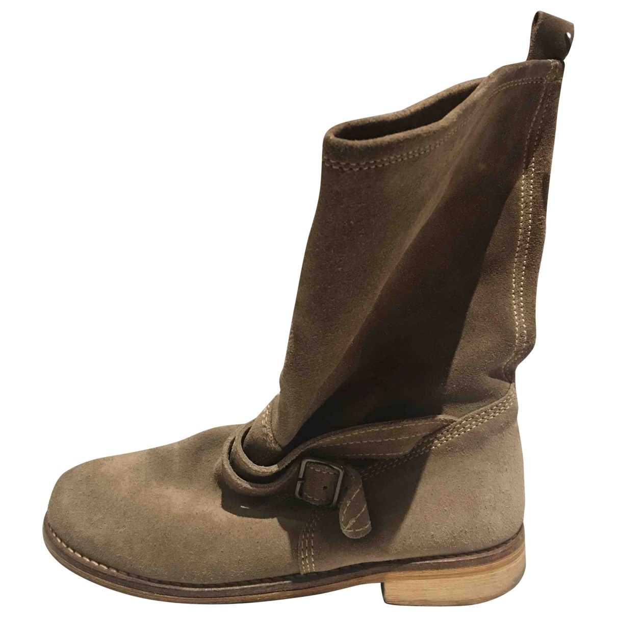 Max & Co \N Beige Suede Boots for Women 37 EU
