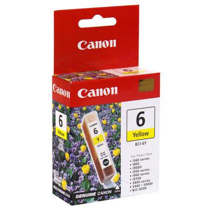 Canon BCI-6Y Original Yellow Ink Cartridge