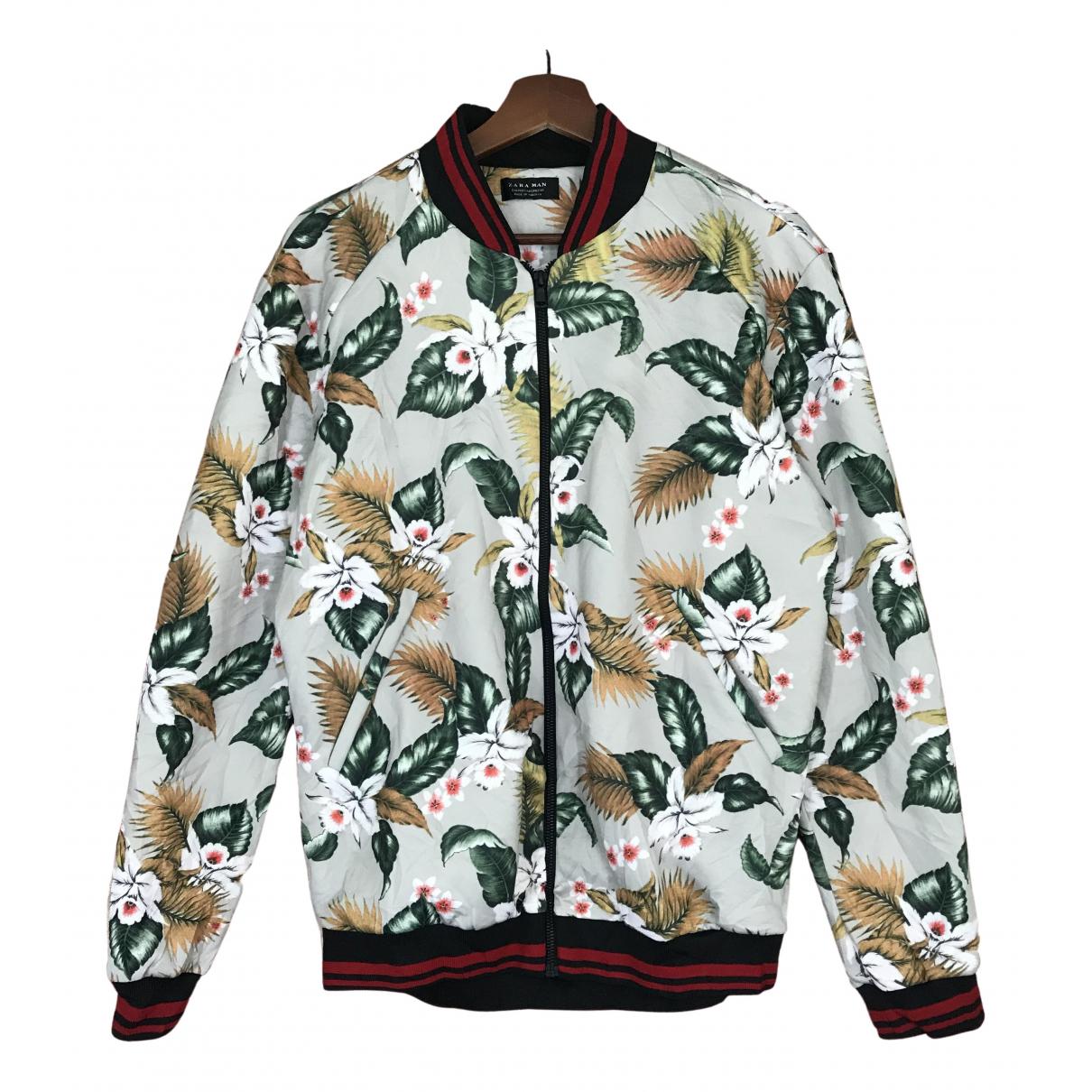 Zara \N White Cotton jacket  for Men M International