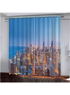 3D Modern New York City Scenery Decorative Curtains for Home and Office