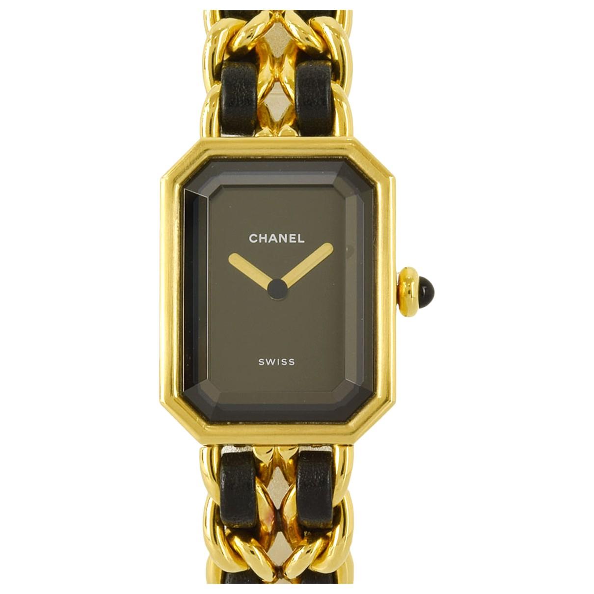Chanel \N Uhr in  Schwarz Vergoldet