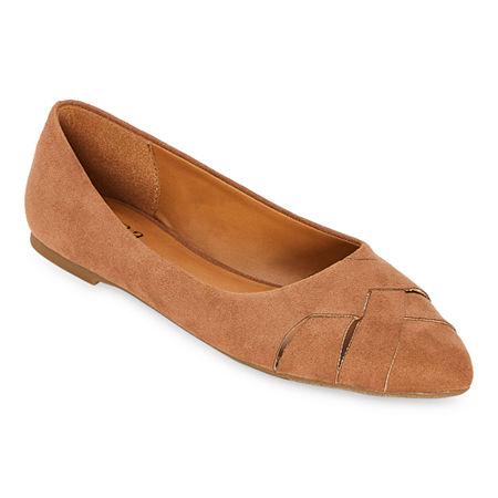 a.n.a Womens Charm Ballet Flats, 11 Medium, Brown