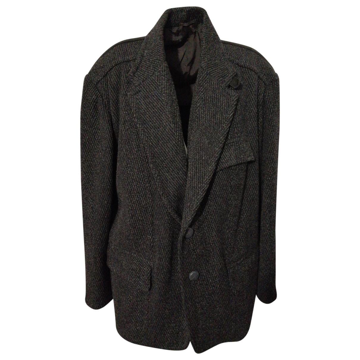 Trussardi \N Jacke in  Schwarz Wolle