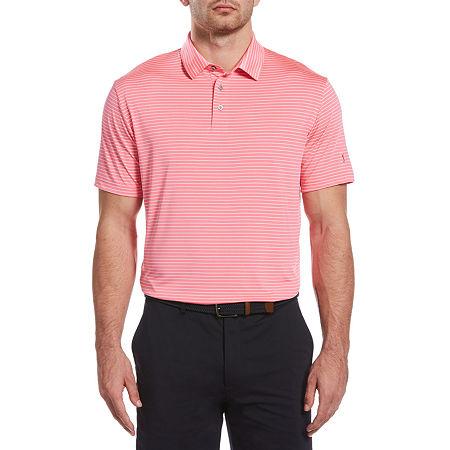 PGA TOUR Mens Short Sleeve Polo Shirt, X-large , Pink