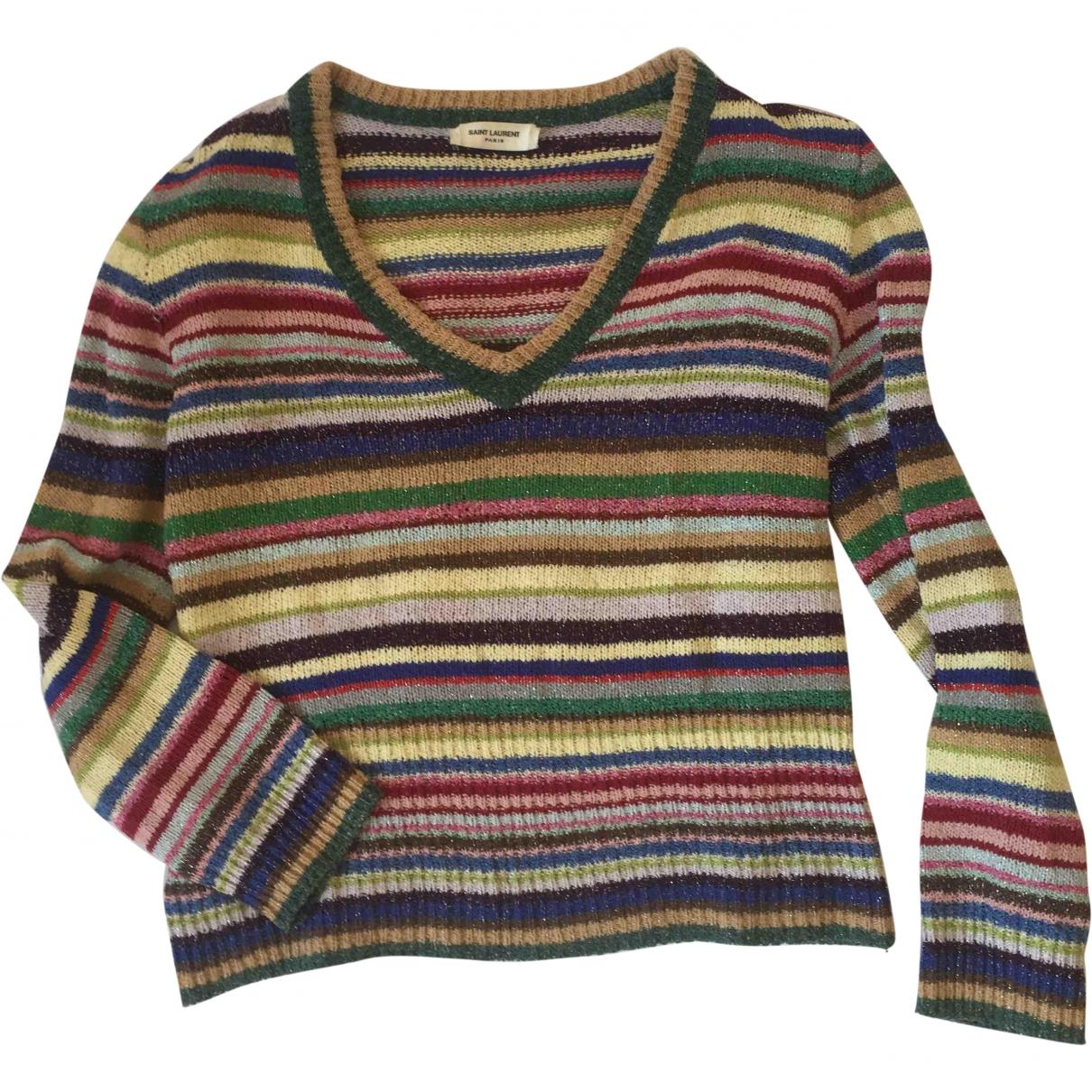 Saint Laurent - Pull   pour femme en soie - multicolore