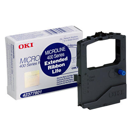 Okidata 42377801 Original Black Self-Inking Ribbon Cartridge