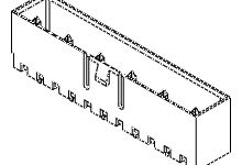 Molex , 53625, 3 Way, 1 Row, Vertical PCB Header (700)