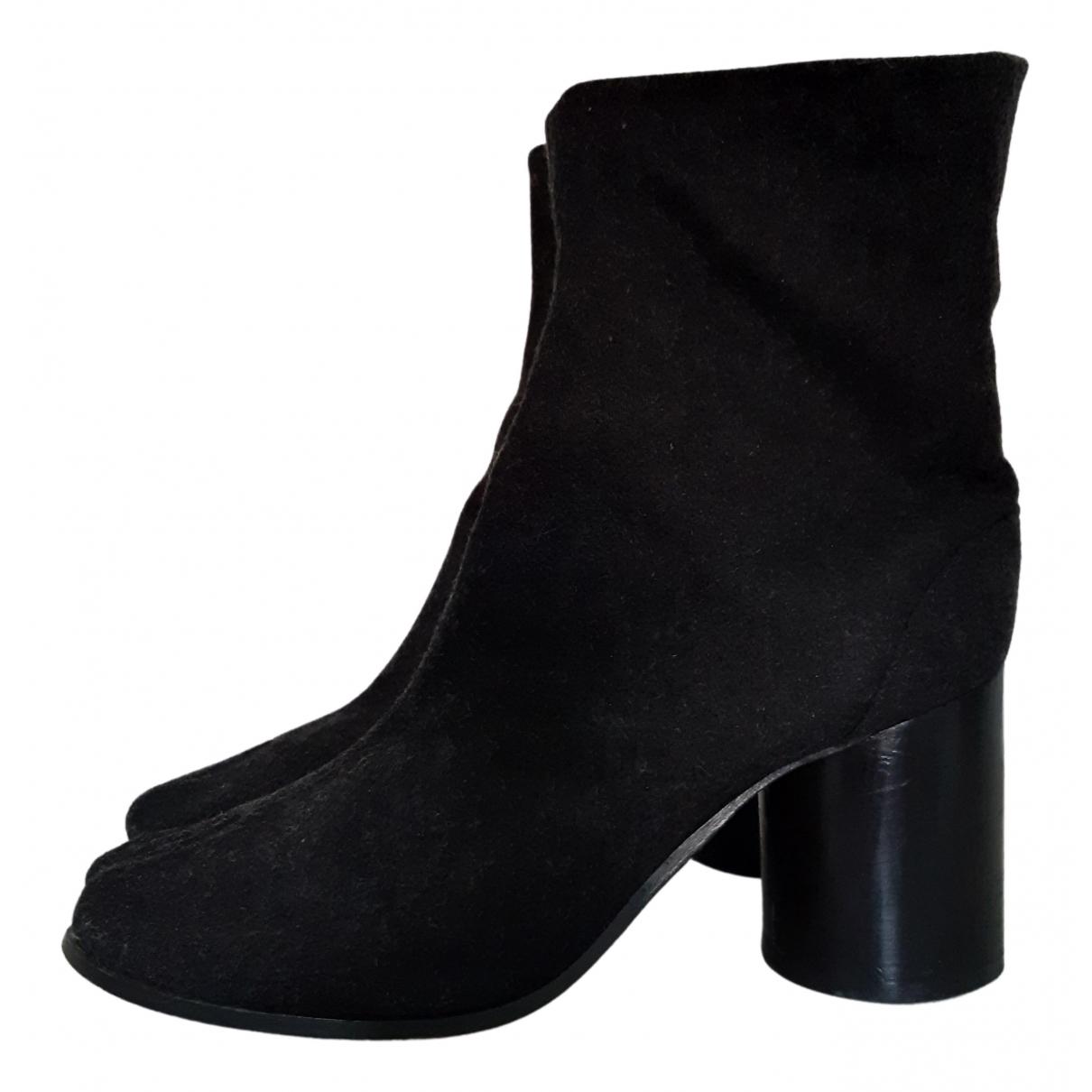 Maison Martin Margiela Tabi Anthracite Tweed Ankle boots for Women 39 EU