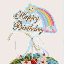 Rainbow Design Cake Topper
