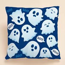 Kissenbezug mit Halloween Geist Muster ohne Fuellstoff