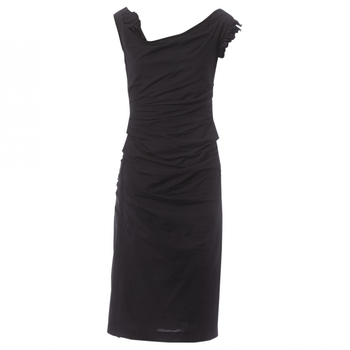 Vera Wang \N Black Cotton - elasthane dress for Women 38 FR