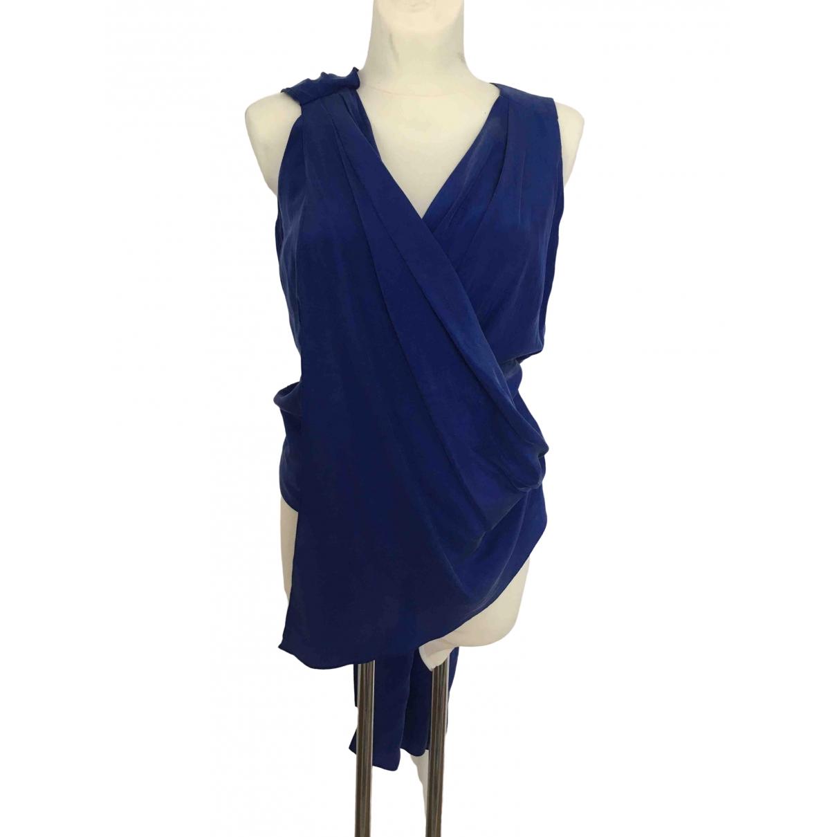 Matthew Williamson - Top   pour femme en soie - bleu
