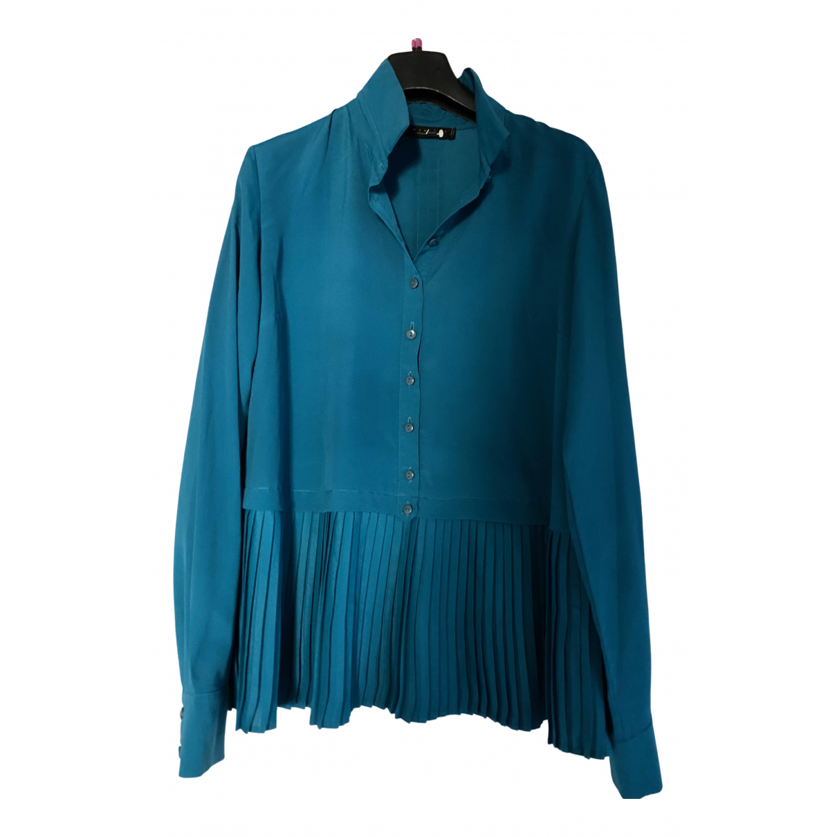 Twin Set N Turquoise  top for Women 40 IT