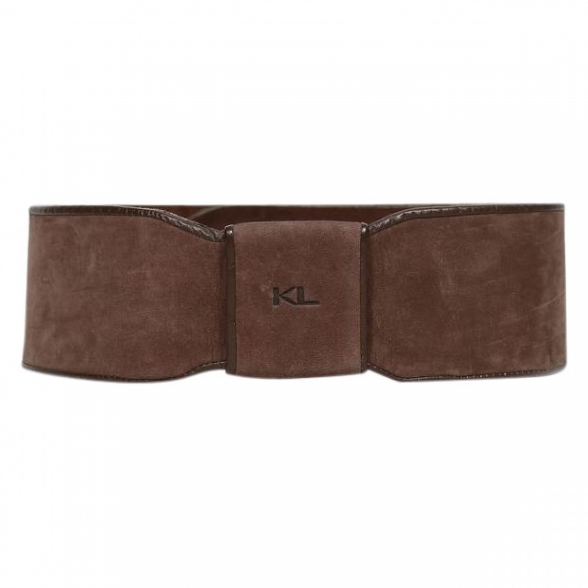 Karl Lagerfeld \N Brown Leather belt for Women 75 cm