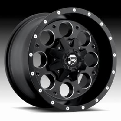 MHT Fuel Offroad D525 Revolver, 16x8 Wheel with 5 on 4.5 and 5 on 5 Bolt Pattern - Black with Machining - D52516802645
