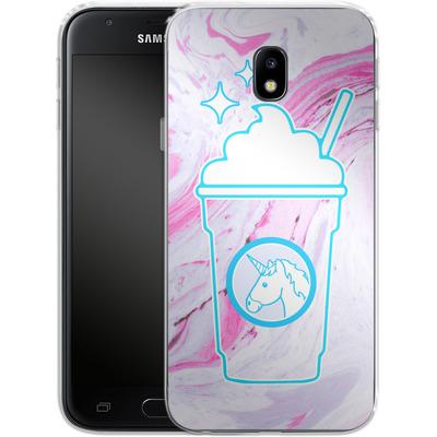Samsung Galaxy J3 (2017) Silikon Handyhuelle - Unicorn Frappuccino von caseable Designs