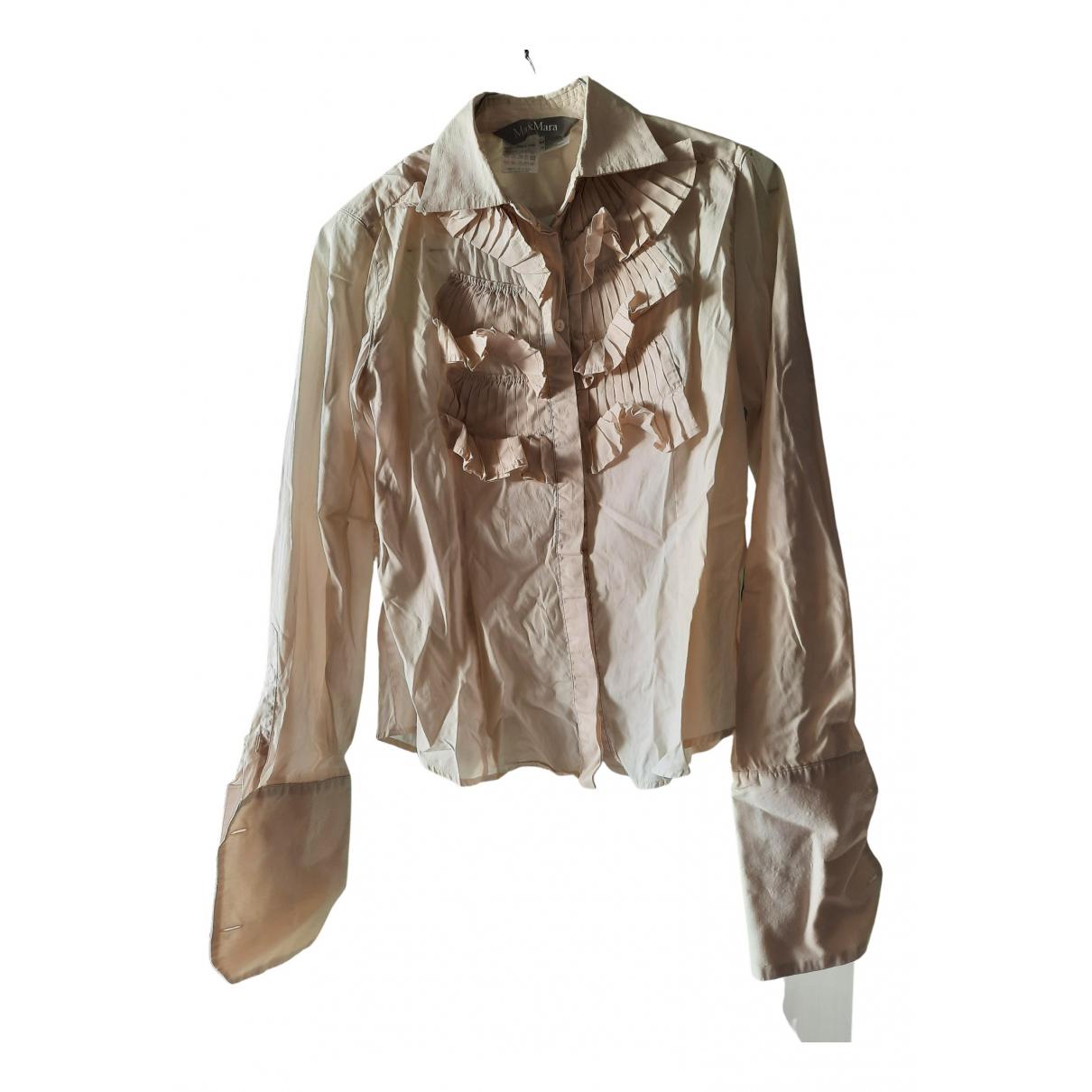 Max Mara - Top   pour femme en coton - beige