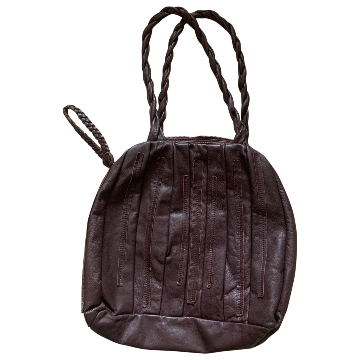 Elena Miro \N Burgundy Leather handbag for Women \N