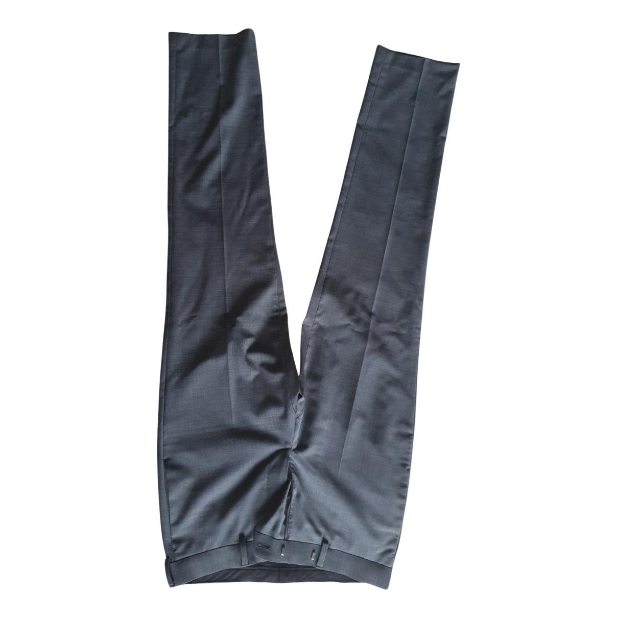 Sandro N Grey Wool Trousers for Men 36 FR