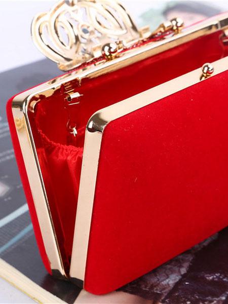 Milanoo Wedding Clutch Bags Rhinestones Beaded Bridal Handbags