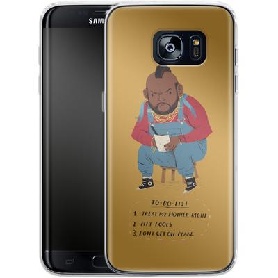 Samsung Galaxy S7 Edge Silikon Handyhuelle - Mr T To Do List von Louis Ros