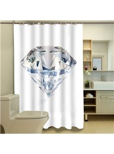 Superior Splendid Diamond Polyester 3D Shower Curtain